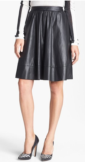 Nordstrom A-line Faux-leather Skirt, $94.