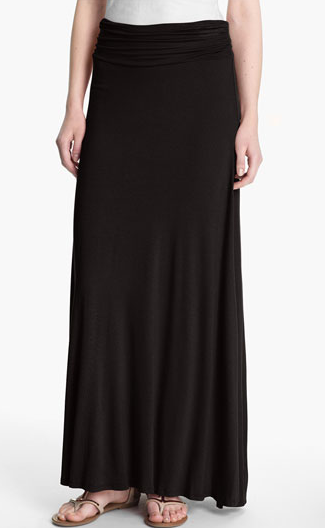 Bobeau Ruched Waist Maxi Skirt, $44.