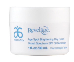 Arbonne Revelage Age Spot Brightening Day Cream.
