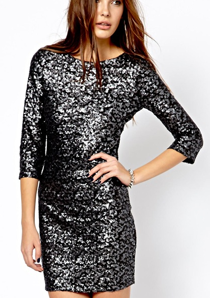 ASOS All Over Sequin Dress.