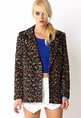 f21 leopard coat