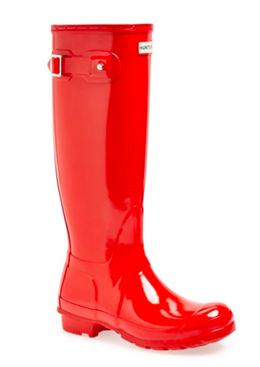 Hunter High Gloss Rain Boots.