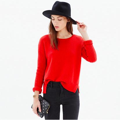 Madewell Texturemix Pullover Sweater.