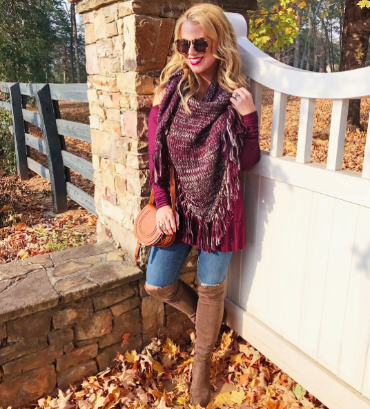 91a60ec0749 It looks great worn alone with a statement necklace or layered with a scarf  like I've done here. Pull on a pair of tall boots, and this simple outfit  is ...