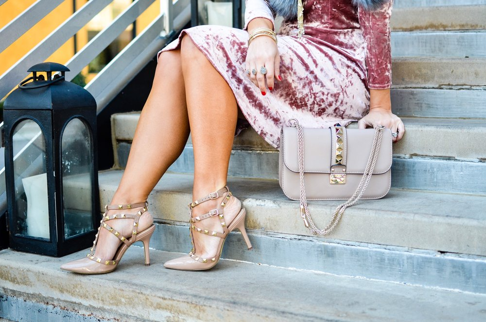 Crushed Velvet Dress | Edit by Lauren
