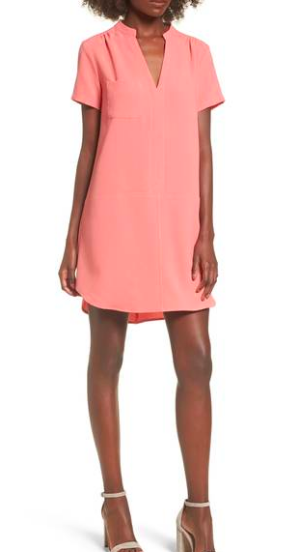 This dress comes in 12 colors, and I LOVE this shade called  Tea Rose  for Spring!