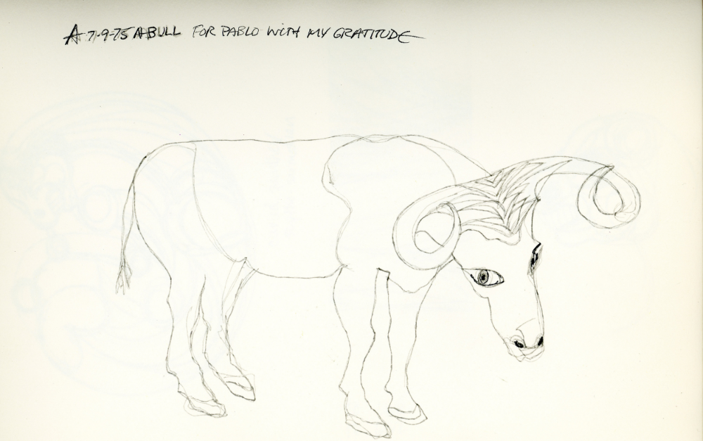 A Bull For Pablo Picasso, 1975