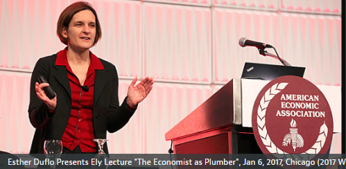 "Video: Esther Duflo's Ely Lecture on ""The Economist as Plumber"""