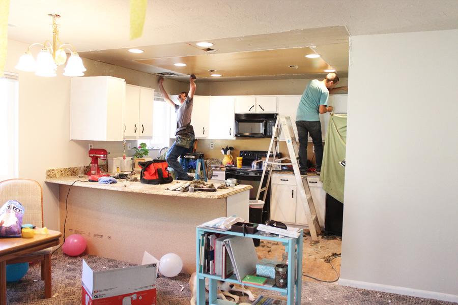 Darling Be Brave - Kitchen Remodel - Removing Bulkhead