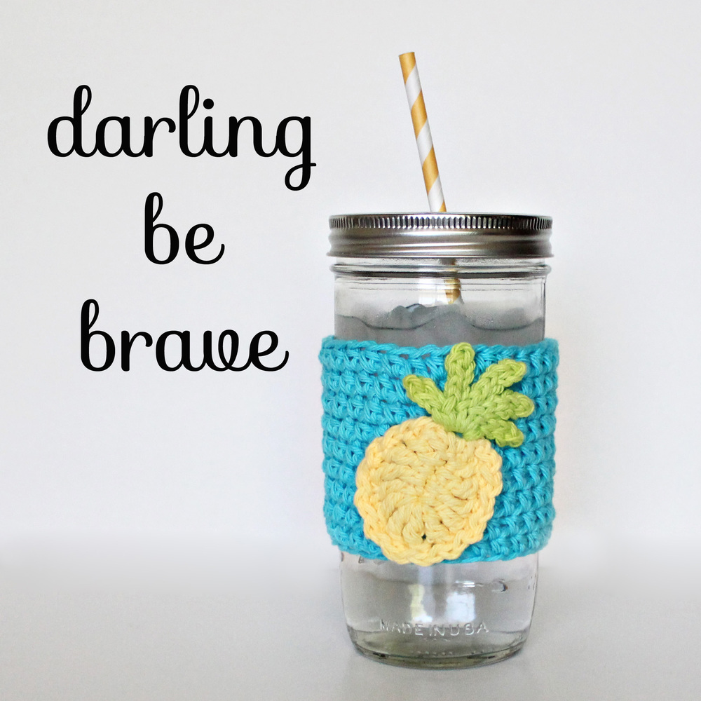 Darling Be Brave - DIY Mason Jar Tumbler Lids