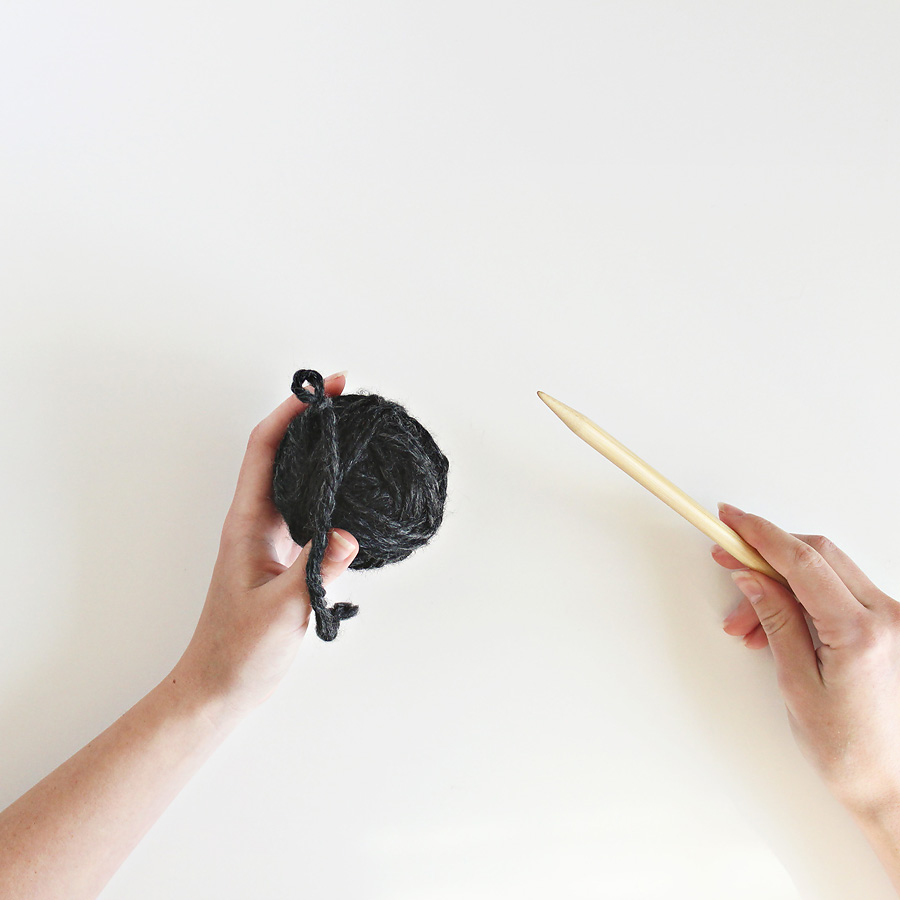 darling be brave - how to wind a center pull ball of yarn.