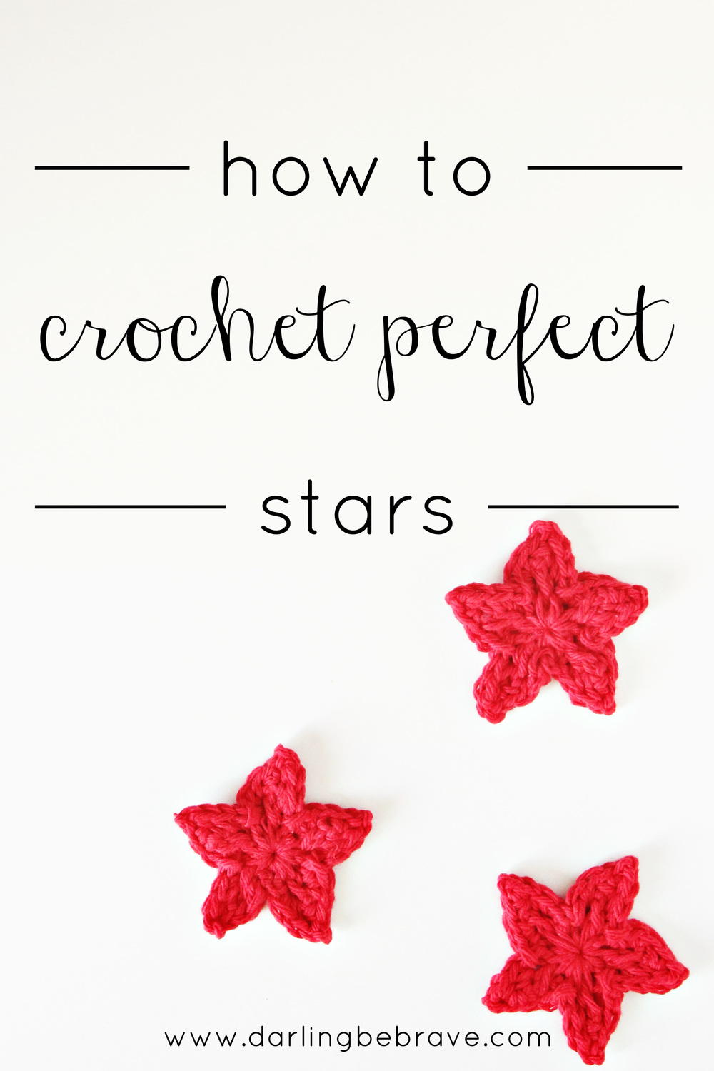 darling be brave >> crochet star tutorial & pattern