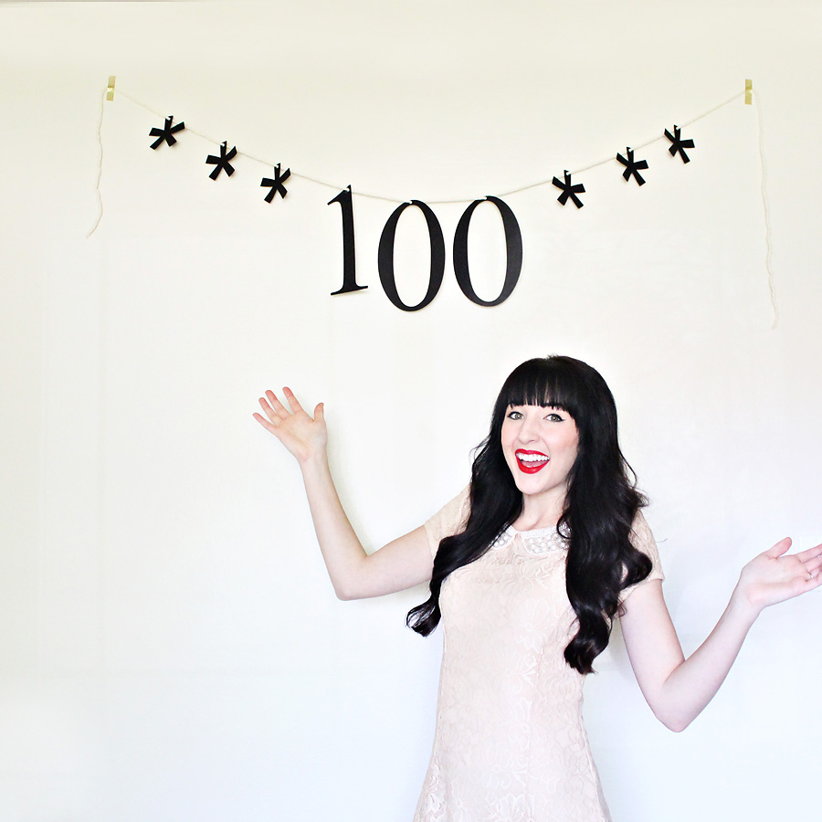 one hundred sales on etsy! - darling be brave