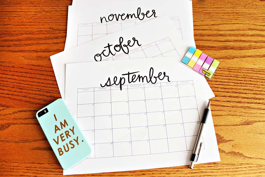 building an editorial calendar // via darling be brave