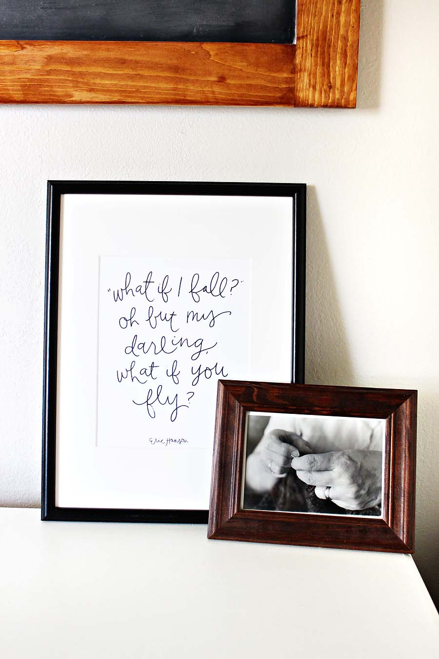 """What if I fall?  Oh but my darling, what if you fly?"" Darling Be Brave's office // via darlingbebrave.com"