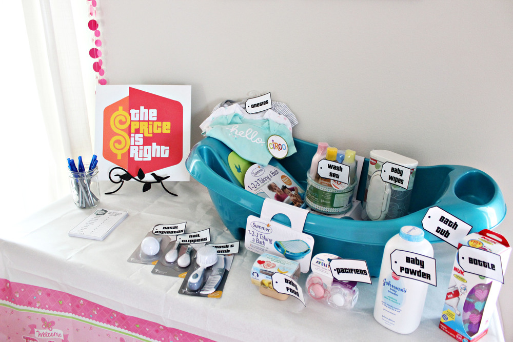 baby shower: price is right game // via www.darlingbebrave.com