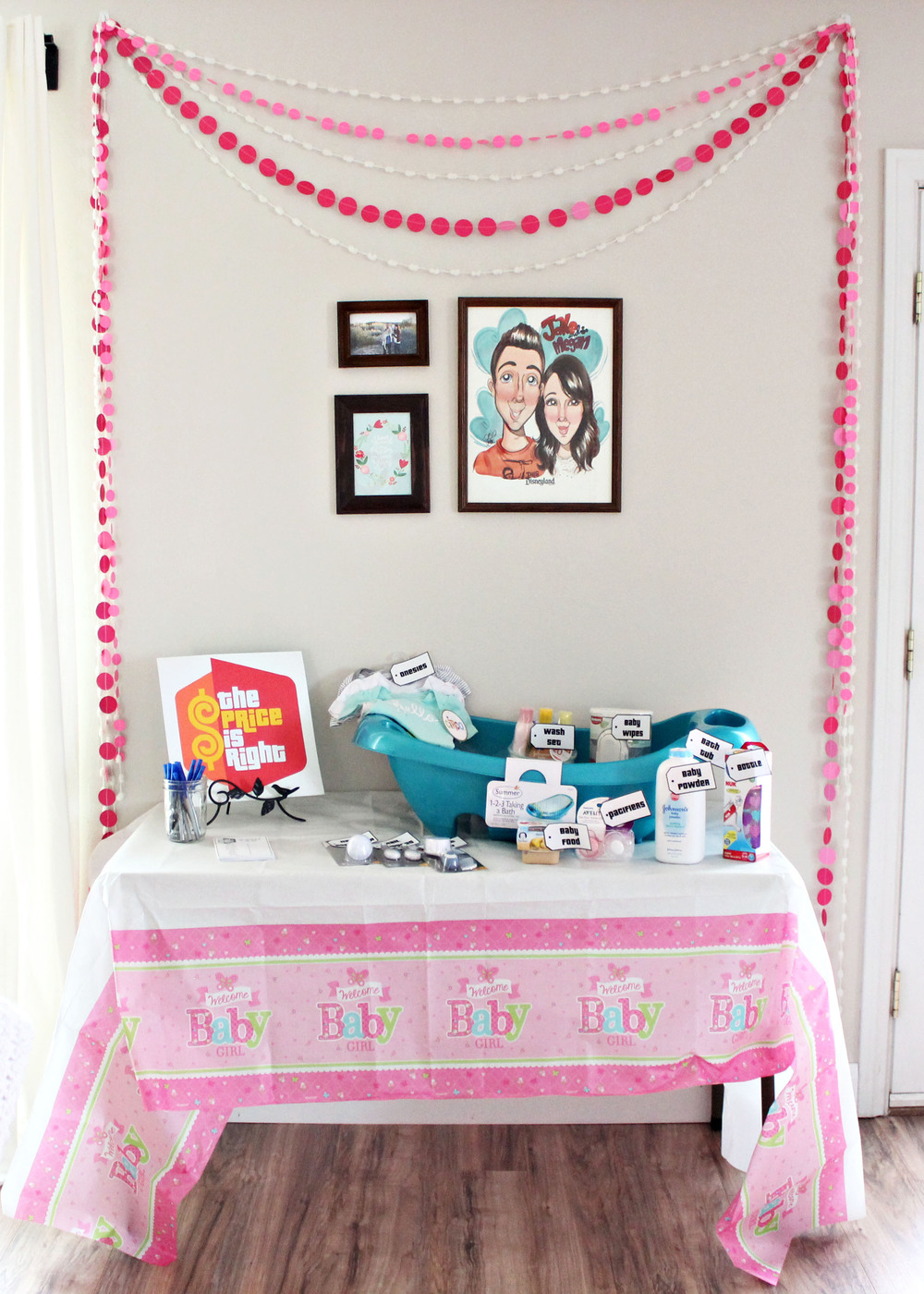 "baby shower: ""price is right"" game // via www.darlingbebrave.com"