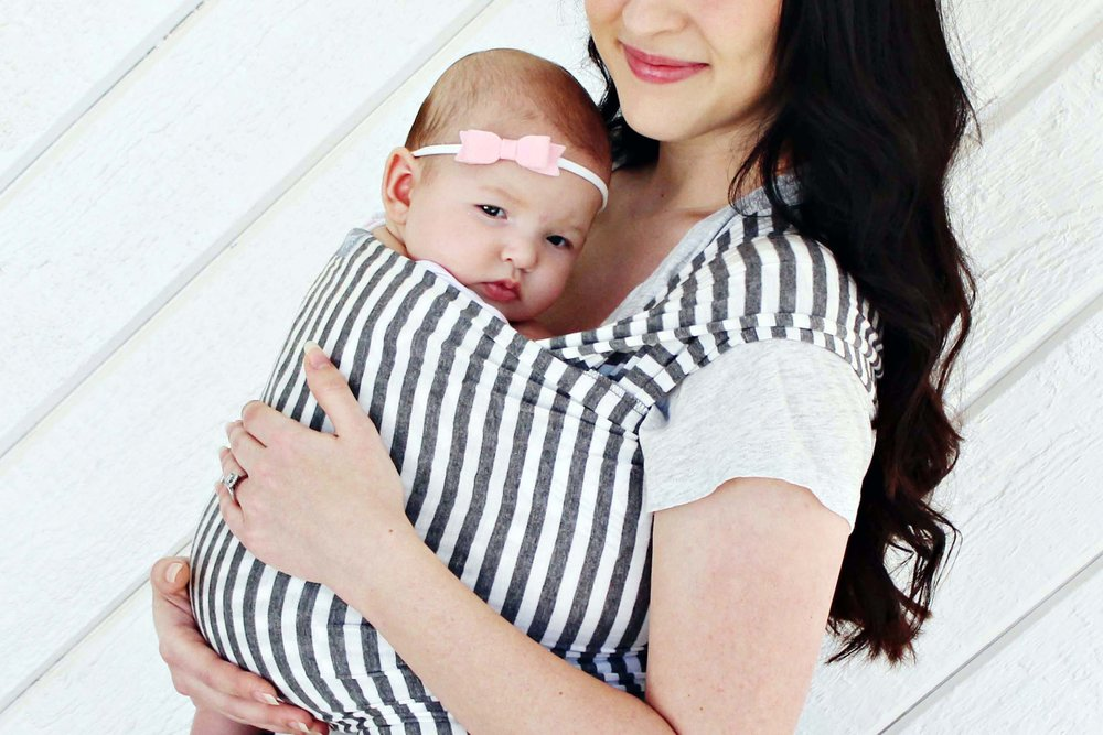 baby carrying: happy baby wrap // via www.darlingbebrave.com