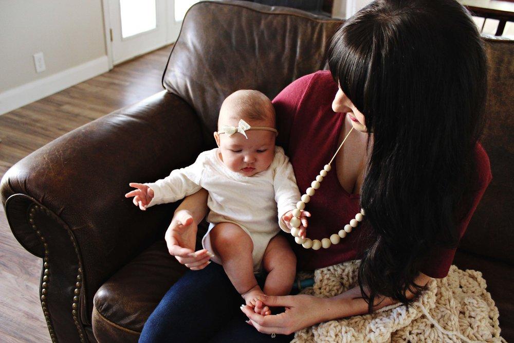 minted lane teething necklaces // via www.darlingbebrave.com