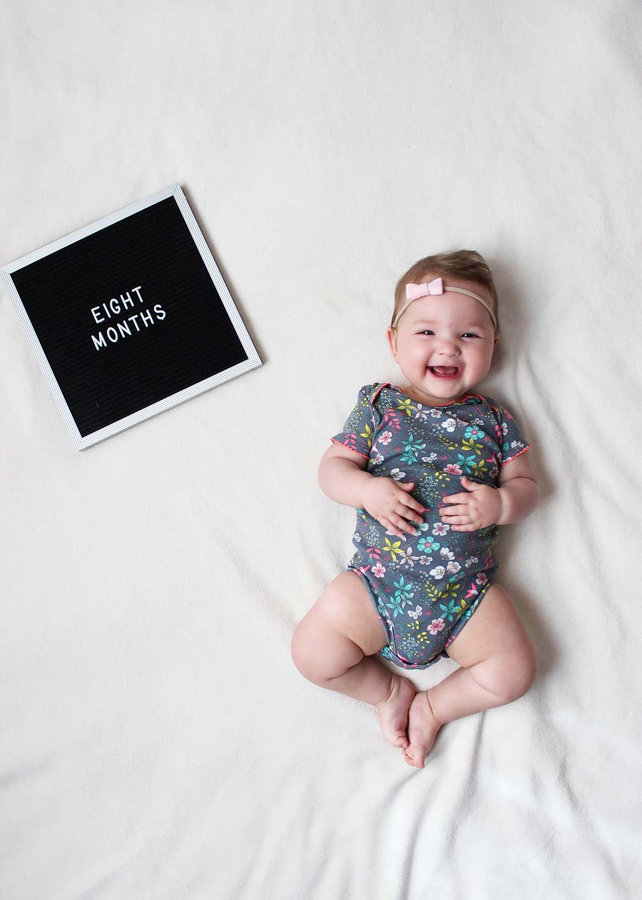 eight months with miss madison // via www.darlingbebrave.com