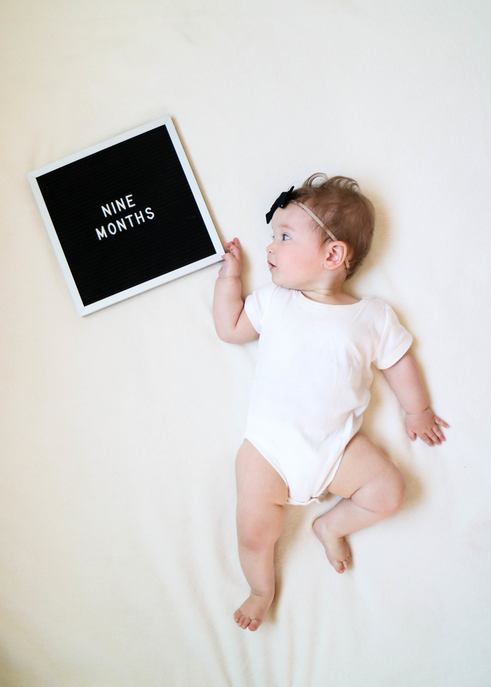 nine months with miss madison // via www.darlingbebrave.com