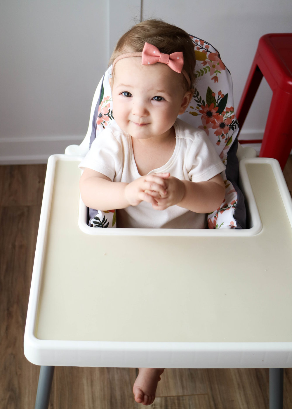 ikea high chair makeover with yeah baby goods // via www.darlingbebrave.com
