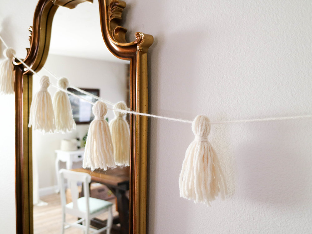 making a tassel garland with the new boye pom pom & tassel kit // via www.darlingbebrave.com