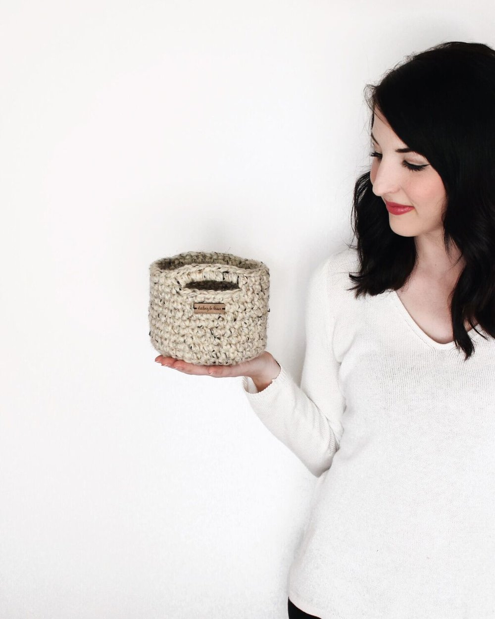 Darling Be Brave Mini Basket Crochet Pattern