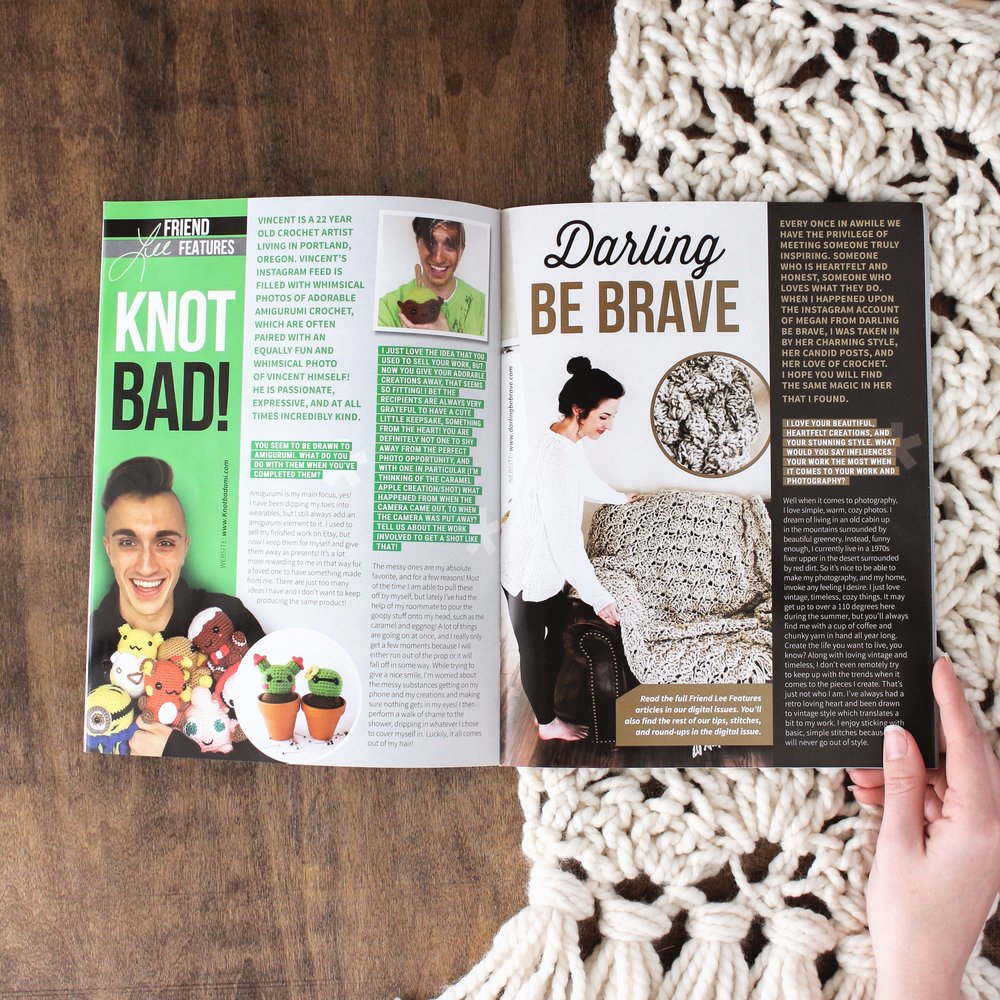 Happily Hooked Magazine December Feature // Darling Be Brave