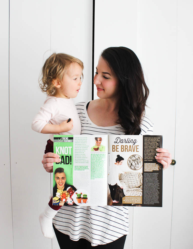 Happily Hooked Magazine + Darling Be Brave