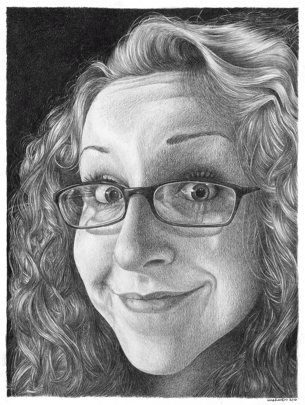 "SELF PORTRAIT, GRAPHITE, 9"" x 12"""