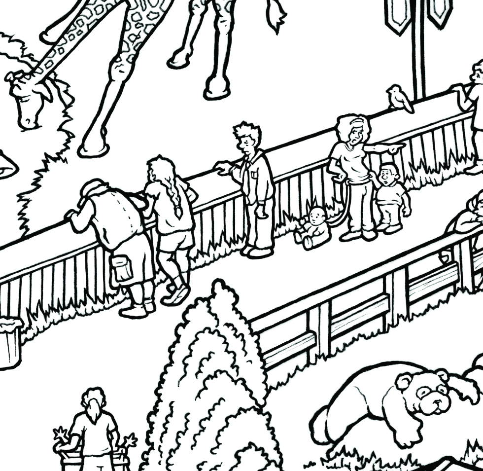zoo u2014 carden illustration