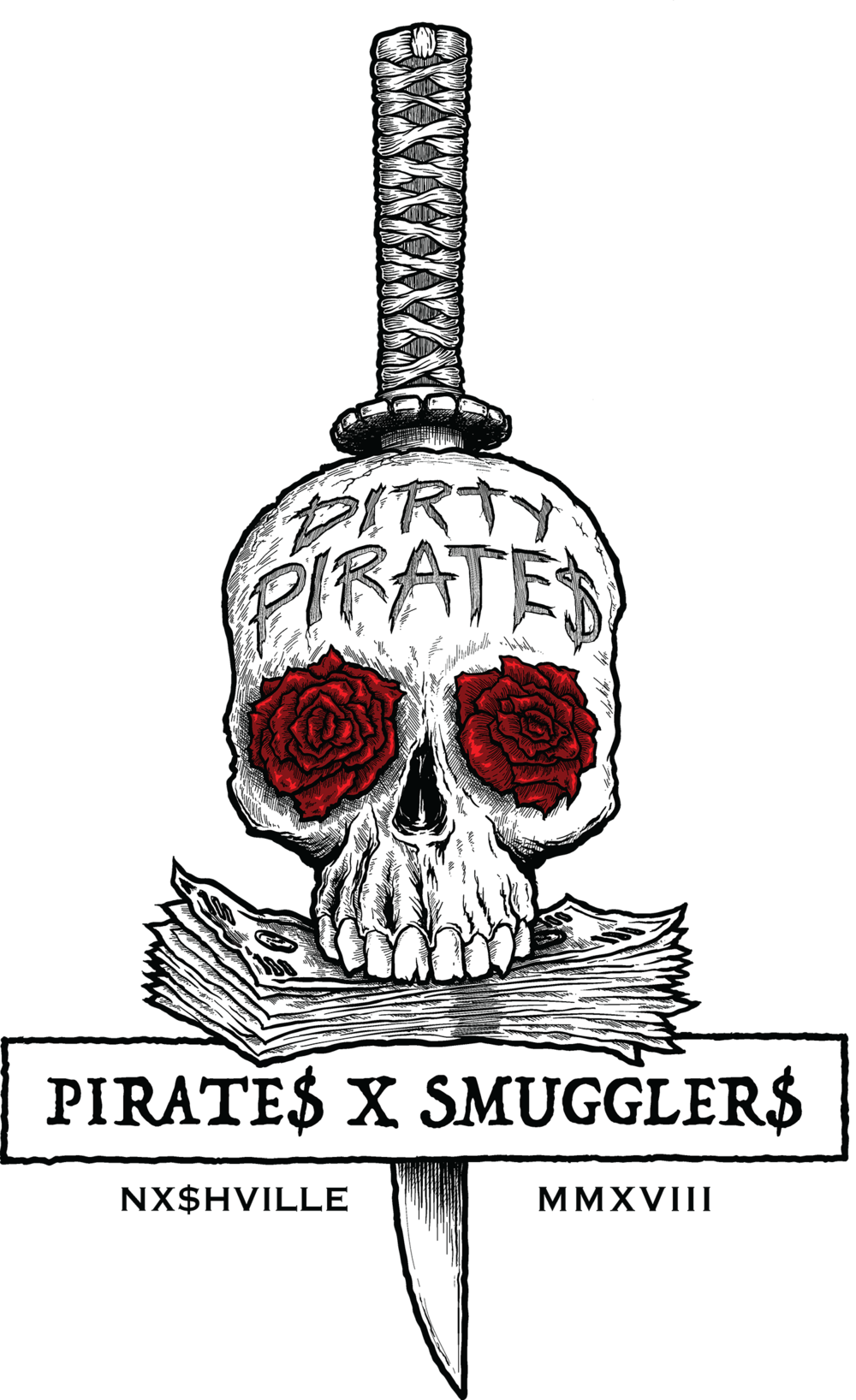 PIRATES X SMUGGLERS LOGO, VECTOR ILLUSTRATION