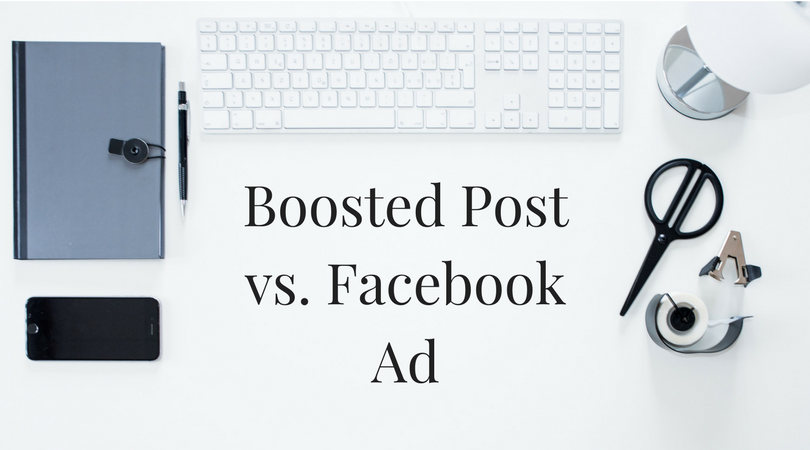 boosted post vs facebook ad
