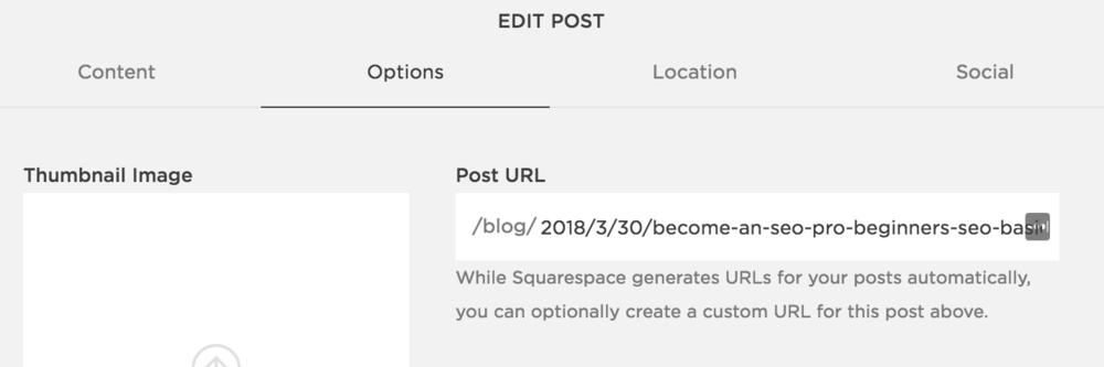 Edit Post > Options > Post URL
