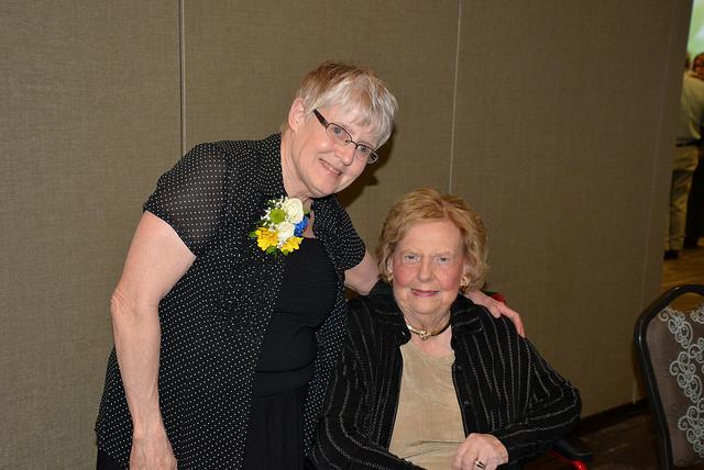 Eileen Wirth, left, and Barbara Bock-Mavis
