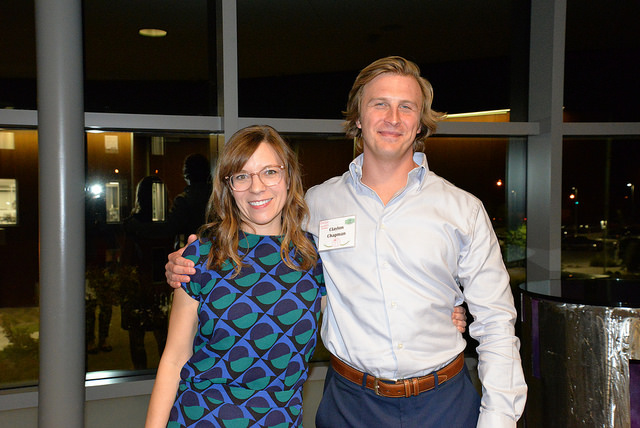 Amy Thielen, left, with The Grey Plume's Clayton Chapman, who served as honorary event chair.