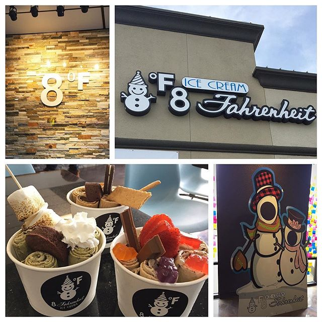 We custom made the snowman face display, indoor and outdoor signs for 8 degree Fahrenheit. Now open for some delicious rolled #icecream!! #sacramento #signs #business #goodeats #desserts #calsigns #yummy #rolledicecream