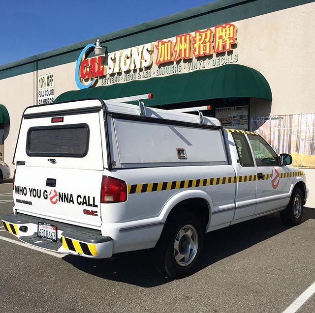 Who you gonna call?!?Awesome #ghostbusters truck vinyl created and installed by us. Let us know if you need vehicle #vinyl made for your #business! 👻🚗🚚🚛🚐🚙 #sacrament #decals #vinyl #printing #calsigns #creative