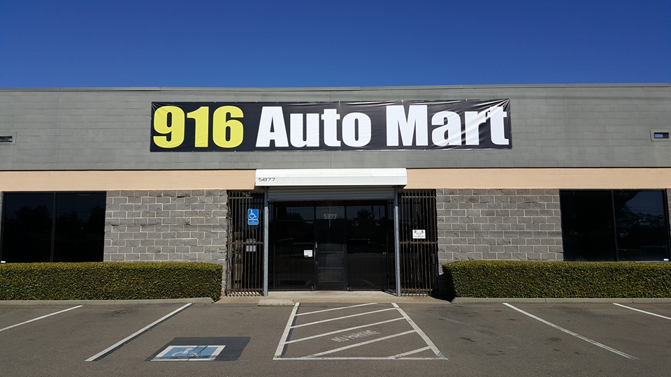 Outdoor Sign Banner made For 916 Auto Mart!