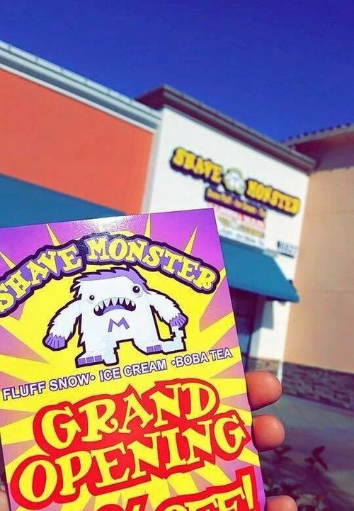 Custom Business Cards for Shave Monster. We also did their sign!