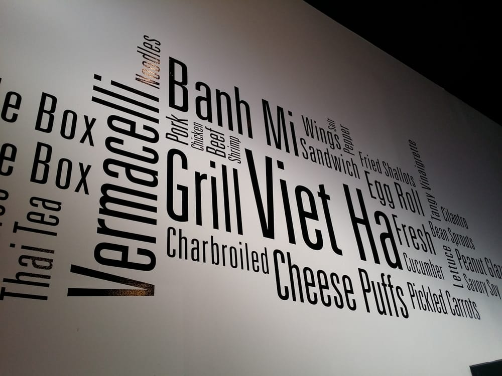 Wall Vinyl for Viet Ha Noodles and Grilllocated on Broadway!