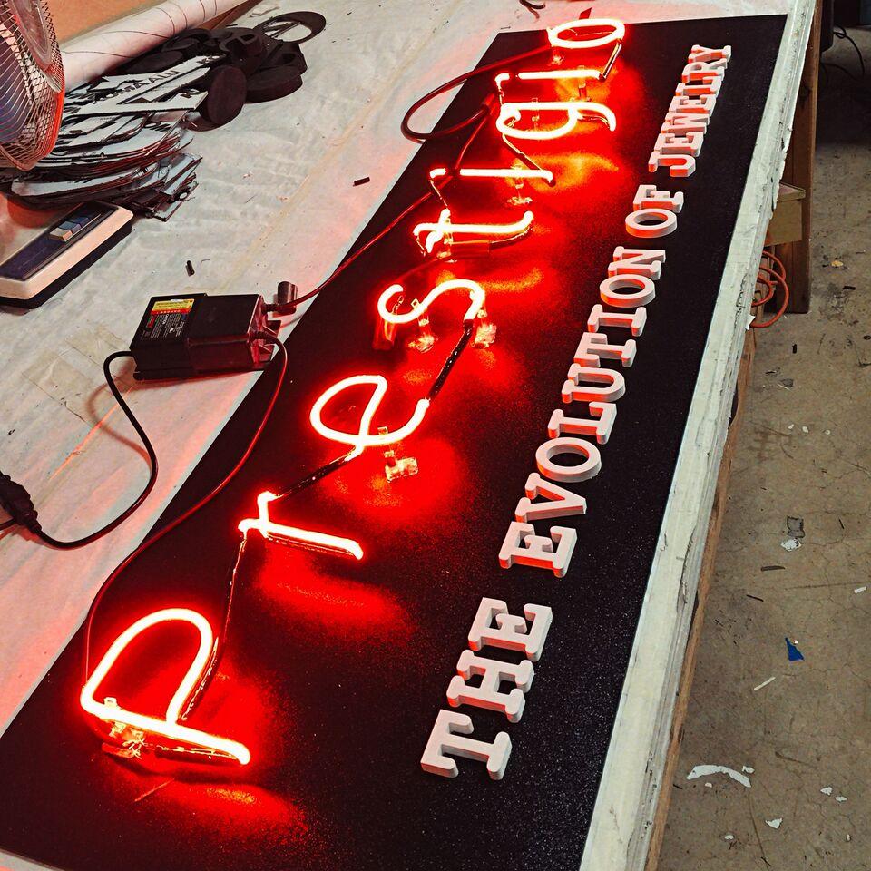 Custom Neon made for Prestigio Jewelers