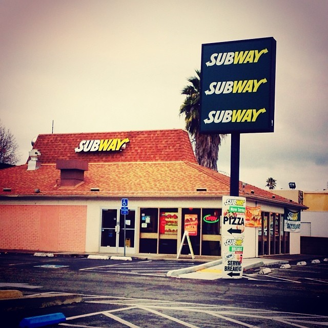 Pole Sign reface for Subway located in Folsom!