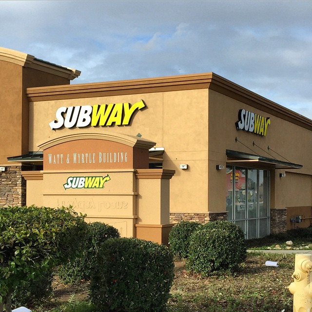 Monument reface for Subway in North Highlands!