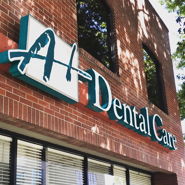 Sign for A+ Dental Care looks wonderful! Great job @calsigns team! ⭐️👍 #signs #custom #letters #logos #business