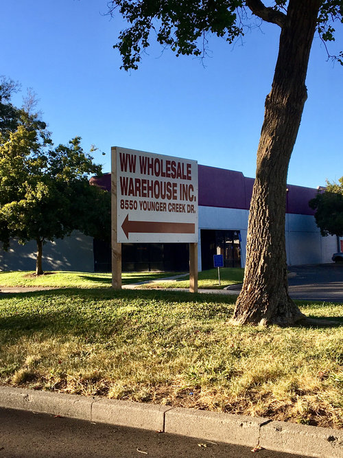 Custom Post Sign made for WW Wholesale Warehouse!