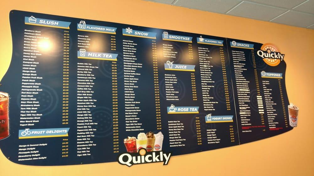 Huge menu board made for Quickly located in La Riviera!