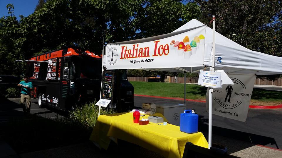Custom Trade Show Banner made for What's Happenin' Italian Ice!