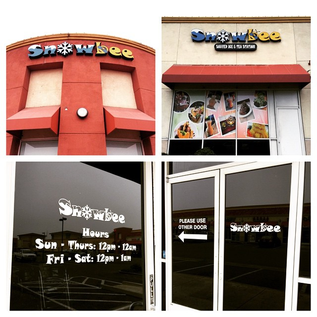 Business Hours and Full Color Window Vinyl